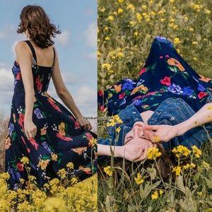 NWT ANTHROPOLOGIE Vivienne Smocked Maxi Dress